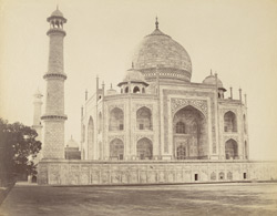 [Side view of the Taj Mahal, Agra.]
